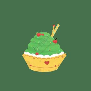 绿色冰淇淋