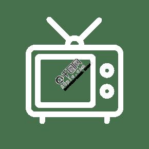 白色电视机图标