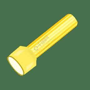 黄色生活手电筒