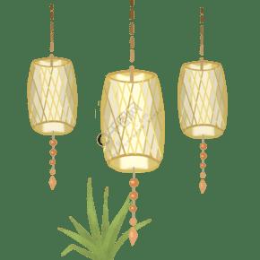 中式简约吊灯造型