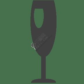 一個紅酒酒杯