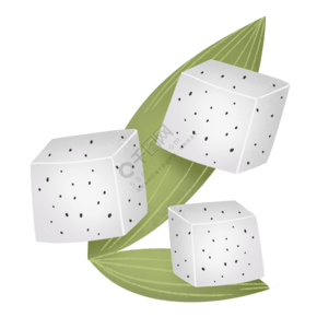 白色小清新夏季火龍果水果塊