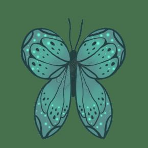 昆虫蝴蝶绿色唯美