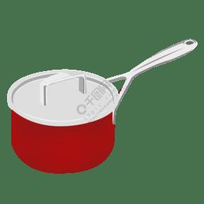 廚房廚具鍋子紅色不銹鋼