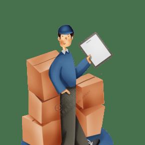 物流和快遞貨物裝飾矢量