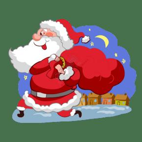 圣诞老人背着礼物
