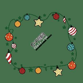 圣诞装饰球矢量图库