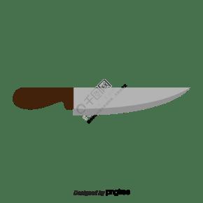 矢量银水果刀刀