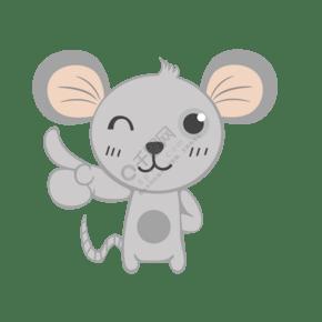 卡通灰色小老鼠