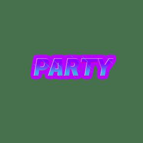 渐变派对简单字体