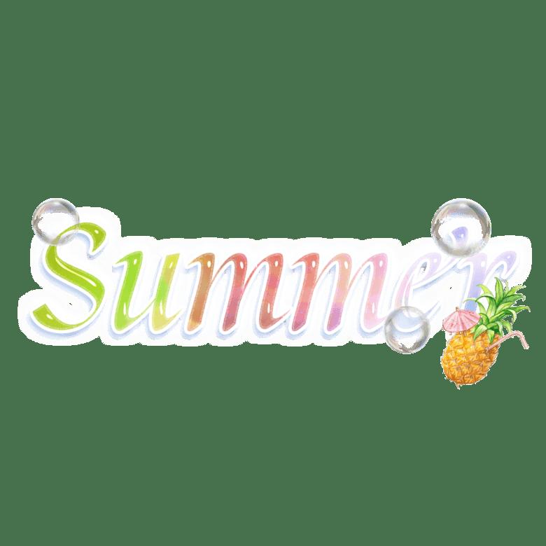 水彩夏天字体设计图片