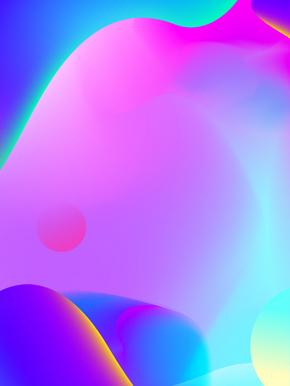 镭射蓝紫渐变海报