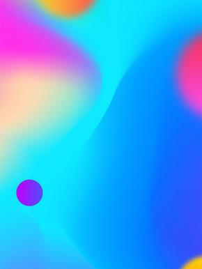 蓝紫渐变球体底纹背景海报