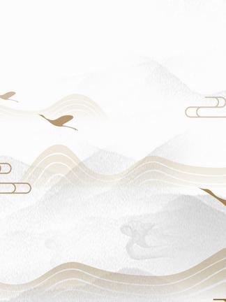 中国风山水水墨海报背景