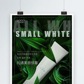 植物温和护肤品海报