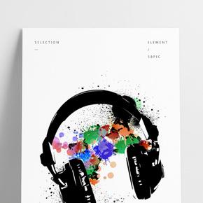 舞蹈音樂耳機潮創意海報
