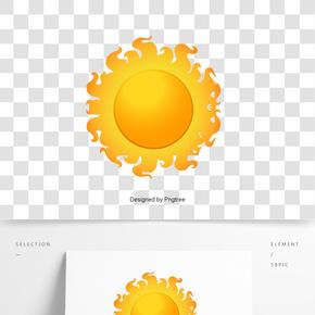 矢量卡通太陽