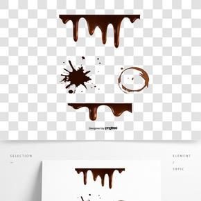 矢量液體巧克力