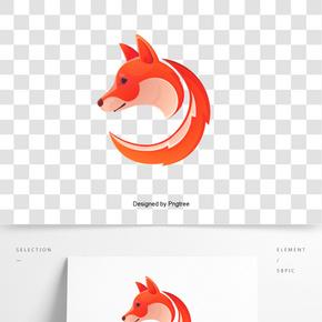 矢量狐狸标志
