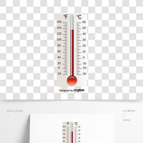 白色溫度計