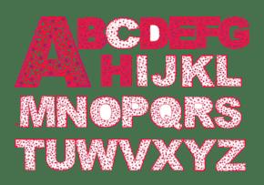 粉色英文字母