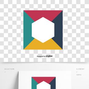 彩色圓形拼接圖