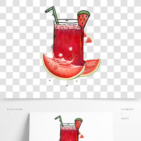 檸檬西瓜汁海報
