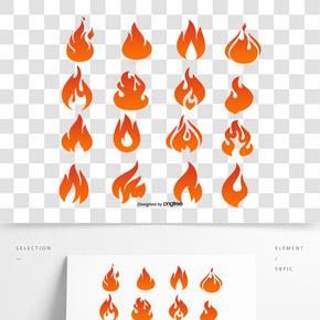 物質流動著紅色的火焰