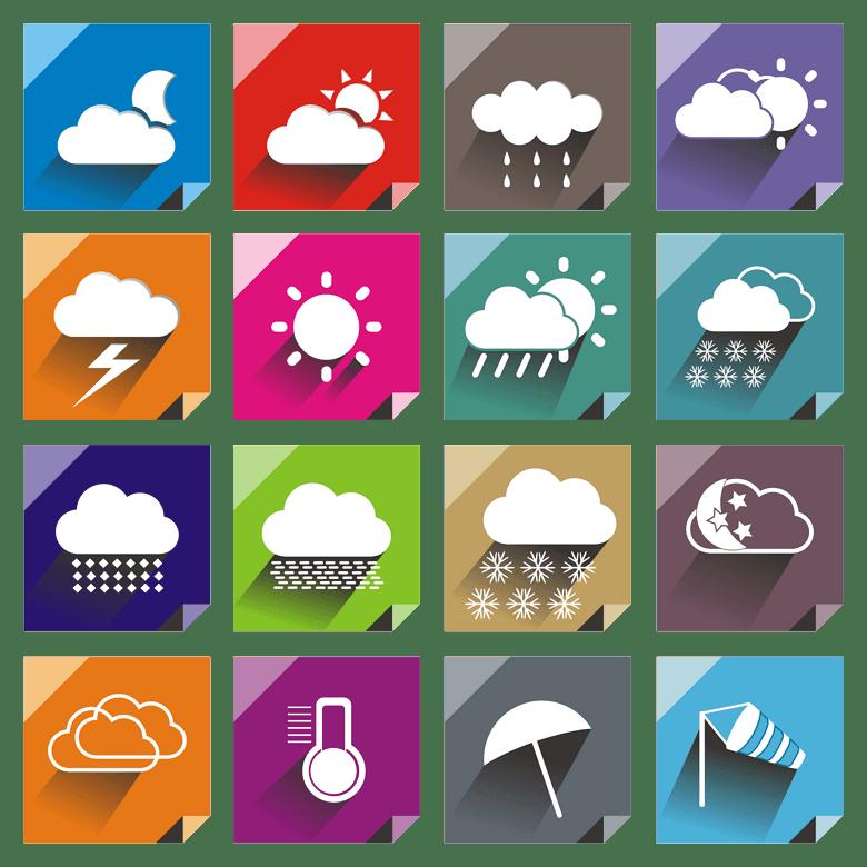 扁平化天气图标