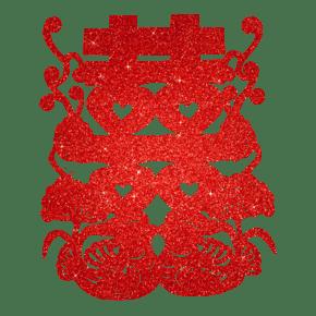 双喜红色装饰字
