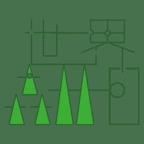 世界森林日绿色字体创意设计矢量图