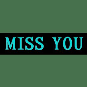 miss you 想你情人节 婚庆 字体设计