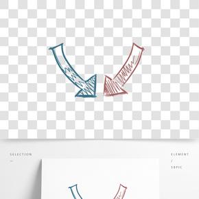 手繪卡通裝飾手繪箭頭海報設計