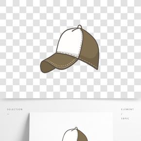 卡通男士鴨舌帽免摳png裝飾