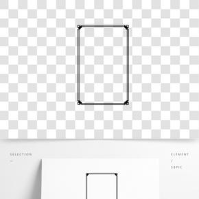 紅色方形紋理邊框字體設計