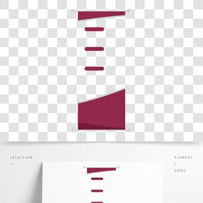 紅色簡介易拉寶設計素材
