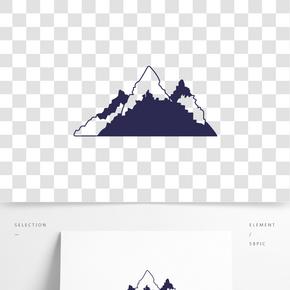 線條山脈矢量插畫
