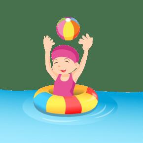 女孩游泳圈海沐浴粉球
