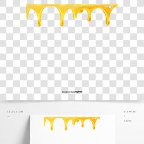 黃色流動蜂蜜液體