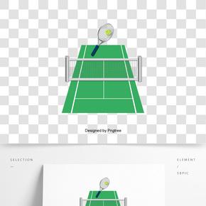 英國英式網球場網球拍網球創意元素