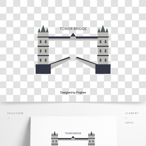 英國英式倫敦塔橋創意建筑元素