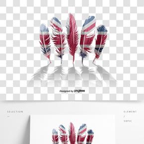 創意羽毛排列英國國旗