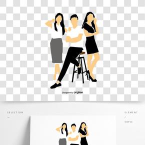 商務辦公人物海報宣傳