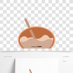 卡通抽象一碗食物