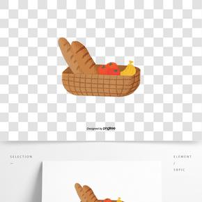 食物面包香蕉西紅柿