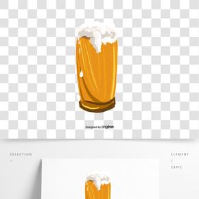 啤酒節酒杯泡沫啤酒