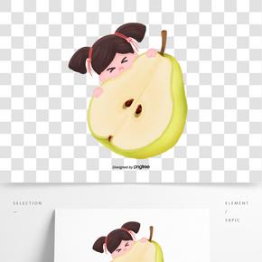 二十四節氣驚蟄小孩吃梨