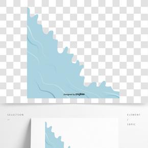 藍色海水浪花紋理