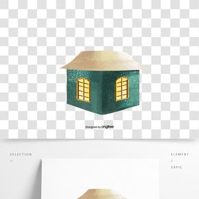 卡通圣诞节建筑物房屋