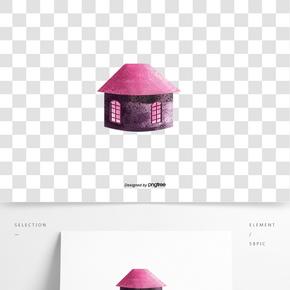 圣诞节紫色房屋装饰